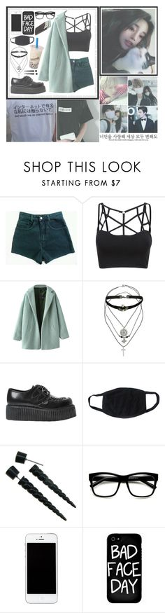 """""""That moment when K-pop ruins your life and takes all your money~ Kiyuna ~"""" by pastelcrimes ❤ liked on Polyvore featuring Chicnova Fashion, Topshop, Underground, Retrò, Local Heroes and Bison"""