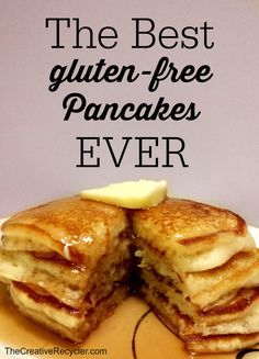 The best gluten-free pancakes... EVER. These are better than IHOP. reduce milk by 1/4 cup and add 1/2 tsp  nutmeg and 1 tsp vanilla. increase flour 1/2 cup.
