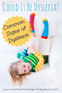 """""""Could it be Dyslexia? Common Signs of Dyslexia."""" This is the first post in a series on Teaching Kids With Dyslexia to Read. Read the entire series by clicking here. by Homeschooling With Dyslexia Teaching Reading, Teaching Kids, Preschool Learning, Educational Activities, Dyslexia Strategies, Reading Strategies, Dyscalculia, How To Teach Kids, Struggling Readers"""