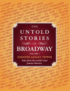 TOPSELLER! The Untold Stories of Broadway, Part 1 $9.99