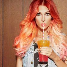 Reverse Orange Ombre for Long Hair | Makeup Tutorials http://makeuptutorials.com/23-ombre-hair-color-ideas