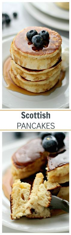 Scottish Pancakes- fluffiest, sweetest, most delicious pancakes Breakfast Desayunos, Breakfast Dishes, Breakfast Recipes, Pancake Recipes, Nutritious Breakfast, Breakfast Ideas, Scottish Pancakes, Waffles, Tasty Pancakes
