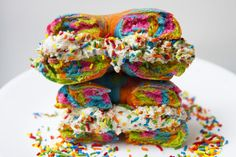 We Made the Rainbow Bagel and It's Magical #SpoonUniversity