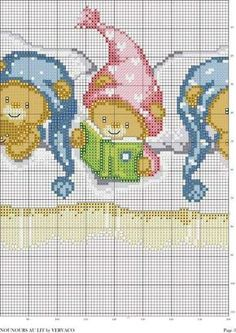 ~ Pin by zuzanna k on metryczki Cross Stitch For Kids, Cute Cross Stitch, Cross Stitch Borders, Cross Stitch Animals, Cross Stitch Charts, Cross Stitch Designs, Cross Stitching, Cross Stitch Patterns, Baby Embroidery