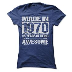 MADE IN 1970 T-Shirts, Hoodies. Check Price Now ==► https://www.sunfrog.com/LifeStyle/MADE-IN-1970--ST4-Ladies.html?id=41382