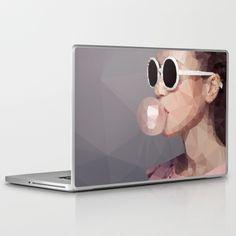 BUBBLE GUM Laptop Case by MESSYMISSY76