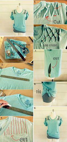Make a Studded T-shirt – DIY