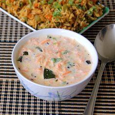 Simple and healthy raita / Pachadi. With Carrot and Greek yogurt.
