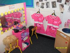 Beauty Parlour role-play area classroom display photo - Photo gallery - SparkleBox
