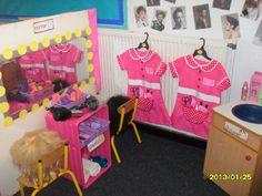 Beauty Parlour role-play area classroom display photo - Photo gallery - SparkleBox