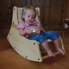 Wood Modern Toddler Rocking Chair  FREE SHIPPING by sawyerbee, $155.00