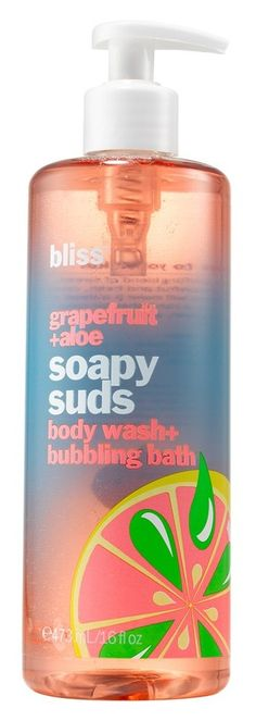 BLISS - Grapefruit + Aloe Soapy Suds body wash + bubbling bath