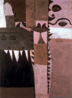 Adolph Gottlieb Pictograph-Symbol Oil on canvas 1942