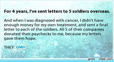 For 4 years, I've sent letters to 5 soldiers overseas.