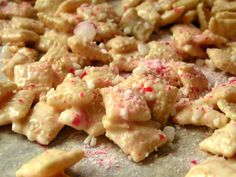 REINDEER FOOD: This was pretty good, you can also use milk chocolate chips. I made this in about 10 minutes unfortunately the kids were out of town but there should be some left!   Would be perfect for last minute parties or get togethers!