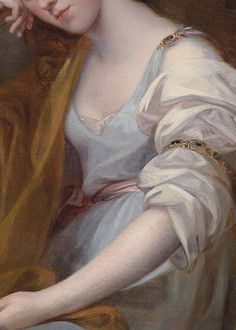 Portrait of Louisa Leveson Gower as Spes (Goddess of Hope) by Angelica Kauffmann, 1767 (detail)