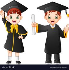 Cartoon happy kid in graduation costume Royalty Free Vector Graduation Cartoon, Clown Crafts, Graduation Cards Handmade, Animation Schools, Fabric Paint Designs, Cute Cartoon Girl, Baby Shower Cards, Happy Kids, Boy Or Girl