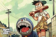 Wallpaper Doraemon Grand Theft Auto Game Poster • Wallpaper For You HD Wallpaper For Desktop & Mobile