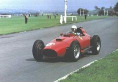 1957 British GP, Aintree : Luigi Musso in Peter Collins' Ferrari 801 during practice. (ph: photobucket.com)
