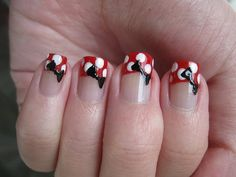 Minnie Mouse. Wedding nails?