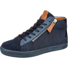 #SPM #Damen #Santander #Sneakers #blau Diese extravaganten SPM Santander Sneakers bestechen durch ihr Ledermaterial in modischer Snake-Optik Zusätzlich unterstützen der dekorative Reißverschluss und der glänzende Besatz das besondere Design