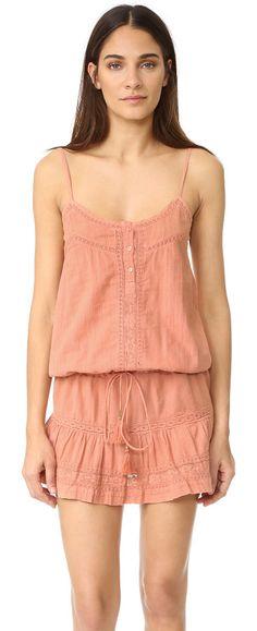 Karen dress by Melissa Odabash. A summery Melissa Odabash drop waist dress in embroidered voile. Drawstring waist. Adjustable shoulder straps. 3 butt...