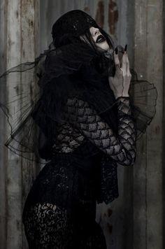 Photographer: Kaity Body  Styling: Kara Chomistek  Styling Assistant: Carmen Tsang  Hair: Jag Moussa  MUA: Maria Constanza  Model: Celina, Mode Models International  photoshoot, editorial, lace, dark, alexander mcqueen inspired Gothic Girls, Fashion Books, Affair, Creepy, Alexander Mcqueen, Editorial, Vogue, Statue, Models