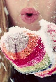 snowy mittens