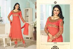 Orange golden georgette embroided suit 1399 only with shipping free. Cash on Delivery at Rs 99 extra Orange Suit, Cheap Deals, Straight Cut, Shop Now, Fashion Accessories, Sari, Suits, Elegant, Best Deals