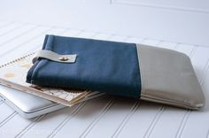 Leather Trimmed Laptop Case