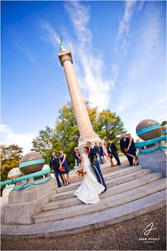 Trophy Point. Michelle and Brian's Wedding – West Point, NY : Adam Nyholt, Photographer