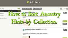 How to Sort Ancestry Hints by Collection.