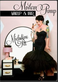IN-STOCK  Modern Pinup  Makeup and Hair by VixenbyMichelinePitt