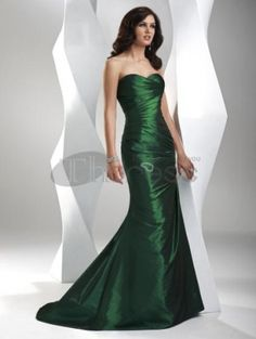 Shop prom dresses and long gowns for prom at Simply Dresses. Floor-length evening dresses, prom gowns, short prom dresses, and long formal dresses for prom. Green Evening Dress, Evening Dresses, Green Gown, Green Satin, Green Corset, Royal Green, Formal Gowns, Strapless Dress Formal, Strapless Corset