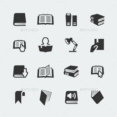 Buy Vector Books and Reading Mini Icons Set by greyj on GraphicRiver. Vector books and reading mini icons set Map Design, Icon Design, Branding Design, Logo Design, Library Icon, Library Logo, Person Icon, Infographic Examples, Sign System