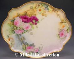 Limoges France Hand Painted Roses Porcelain Tray | eBay