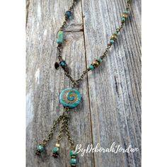 Aqua Czech Beaded Necklace