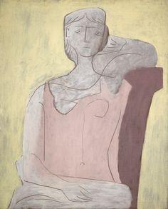 Pablo Picasso: Femme a la robe rose (1917)