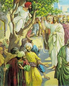 November 18th - Luke 19:1-10: At that time Jesus came to Jericho and intended to pass through the town. Now a man there named Zacchaeus, who was a chief tax collector and also a wealthy man, was seeking to see who Jesus was; but he could not see him because of the crowd, for he was short in stature. So he ran ahead and climbed a sycamore tree in order to see Jesus, who was about to pass that way.