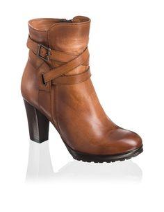 Lazzarini Glattleder-Bootie - braun - Gratis Versand | Schuhe | Boots & Stiefeletten | Online Shop | 1523607733