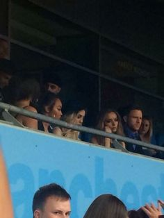 The girls went to the Manchester show tonight. Jade looks so bored. I'm laughing