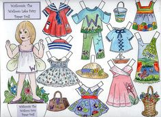 Walloonia, the Walloon Lake Fairy Paper Doll