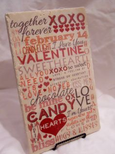 Valentine's Day Subway Art with Red Heart  by FlorentineArtworks, $26.00