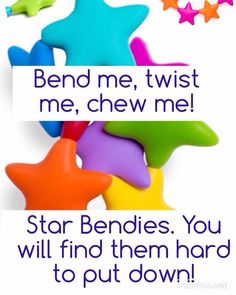 Star Bendies - this colourful ring of stars is not only great to chomp on  and reach those back teeth 9ddd90728