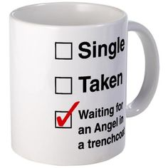 Supernatural Single Taken Trenchcoat Mug #cafepress