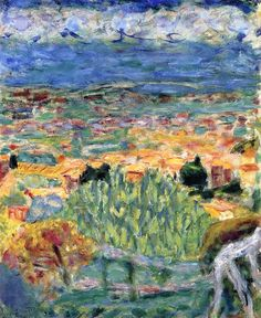 """View of Cannet"": Pierre Bonnard - 1930"