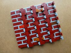 10 1x3 Red Standard Bricks ~ Lego ~ NEW ~ Castle