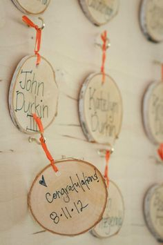 Birch Wood Seating Card. Wedding Seating Card.