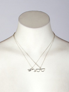 """Accessorize your outfit with style in these fashion necklaces featuring glasses and mustache charms with lobster clasp closure. Hangs 9.25"""" long from lobster clasp. Imported. FINAL SALE, NON-RETURNABLE."""