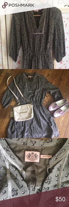 Juicy Couture 'life is a bowl of cherries' dress Pictures do not give this dress justice. It is an adorable, charming dress!!! This delightful dress is in near perfect condition💕 btw, the Cole Haan shoes in the photo are also for sale💕 Juicy Couture Dresses